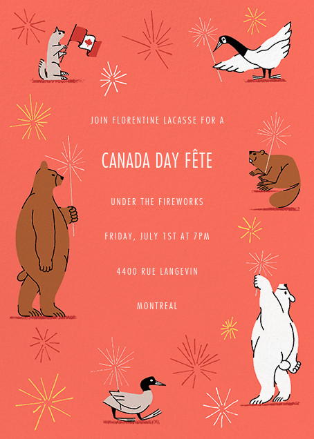 Friendly Fireworks - Paperless Post - Canada Day