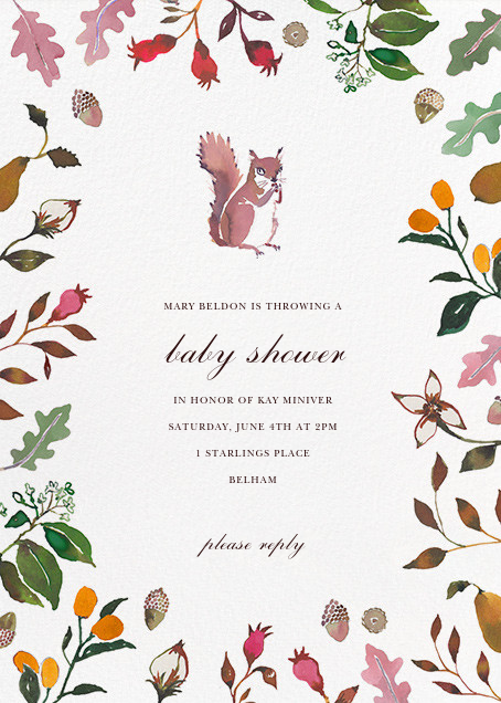 Woodland Tails - Happy Menocal - Baby shower