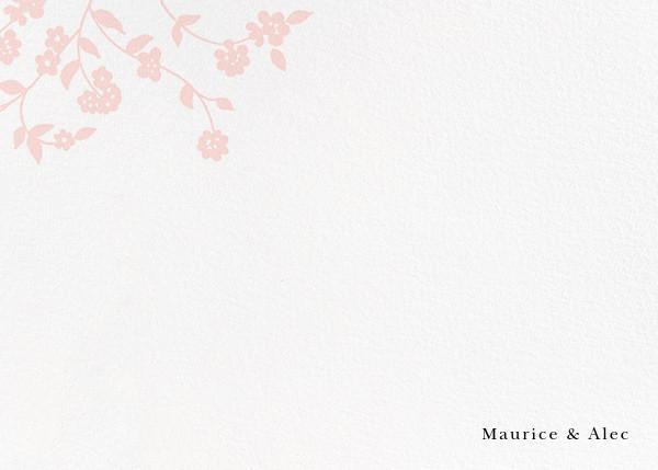 Floral Trellis II (Stationery) - Pink - Oscar de la Renta