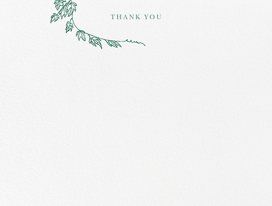 Gwendolyn I (Thank You) - Hunter Green - Paperless Post - Wedding