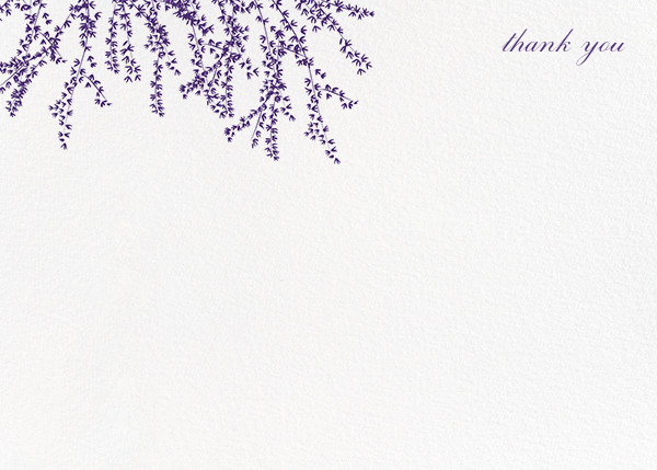 Forsythia (Stationery) - Mulberry - Paperless Post - Wedding