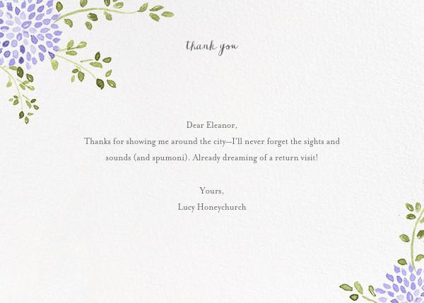 Dahlias (Thank You) - Purple - Paperless Post