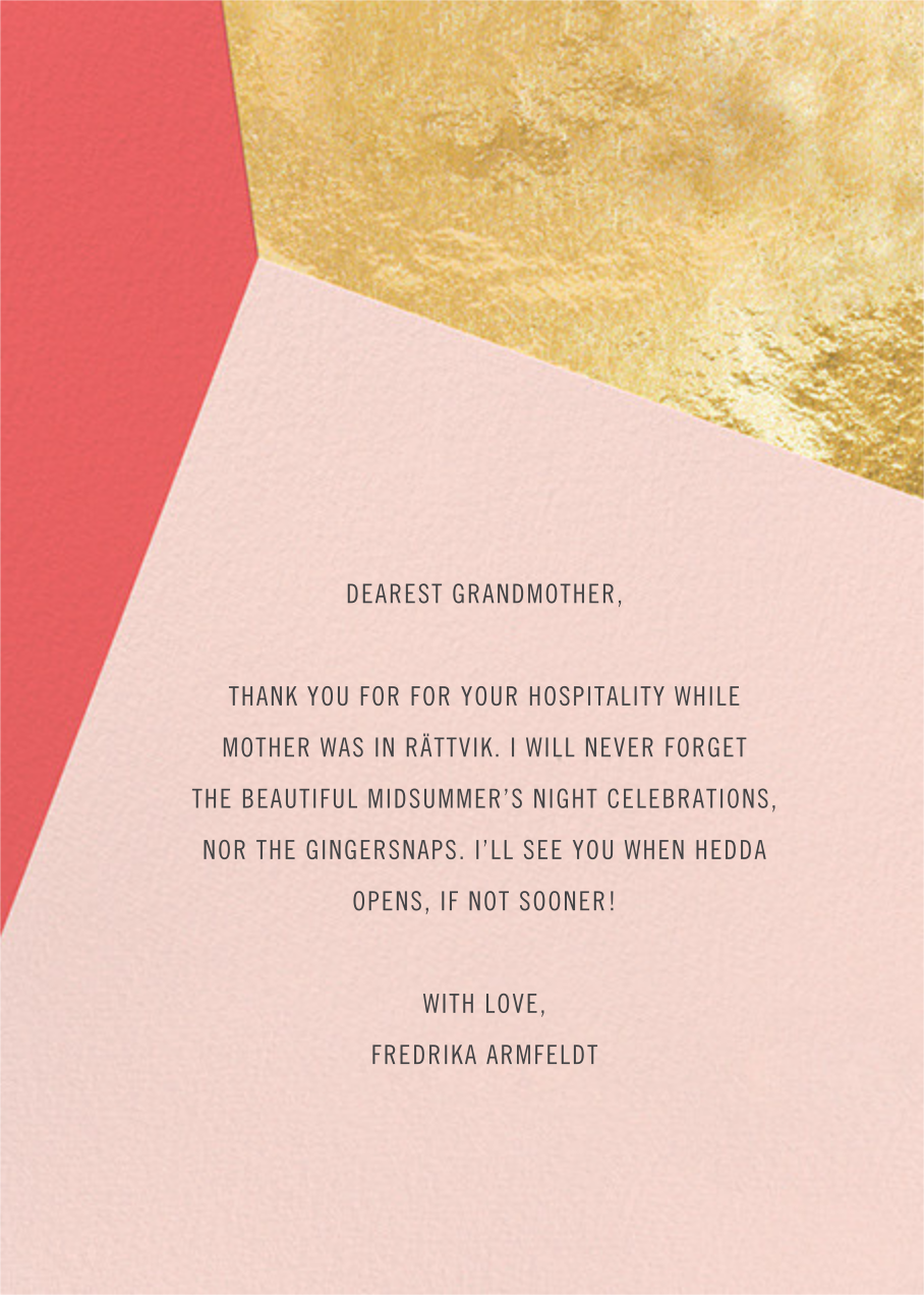 Featured Thanks (Photo) - Coral - Paperless Post - Back