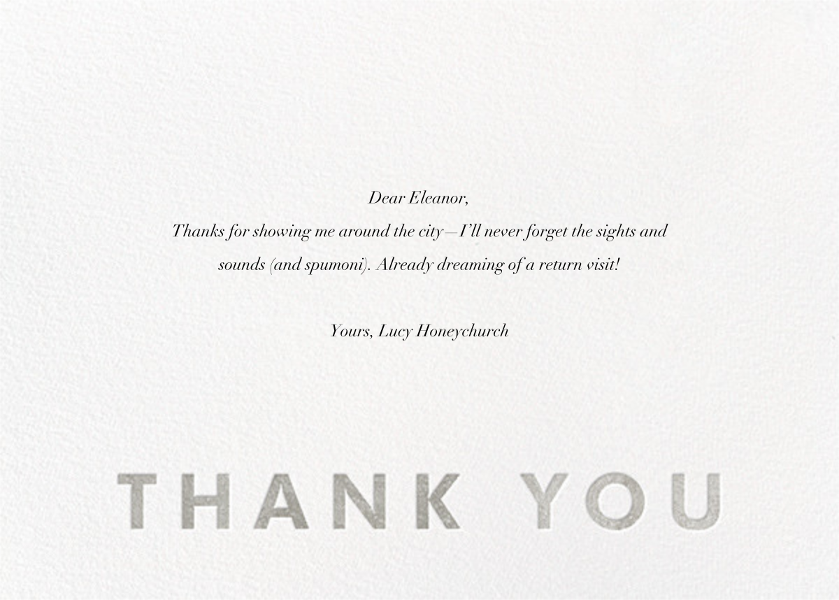 Field of Thanks - White/Silver - Paperless Post - General