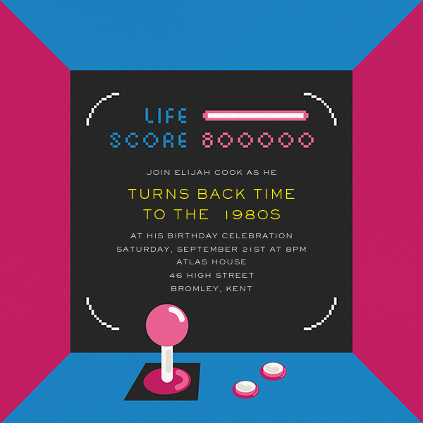 All Time Hi-Score - Paperless Post - Adult birthday