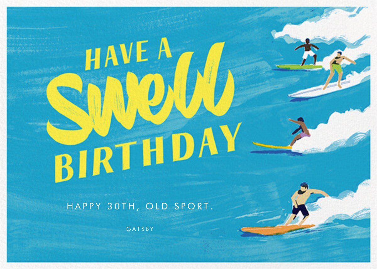 Have a Swell Birthday - Paperless Post