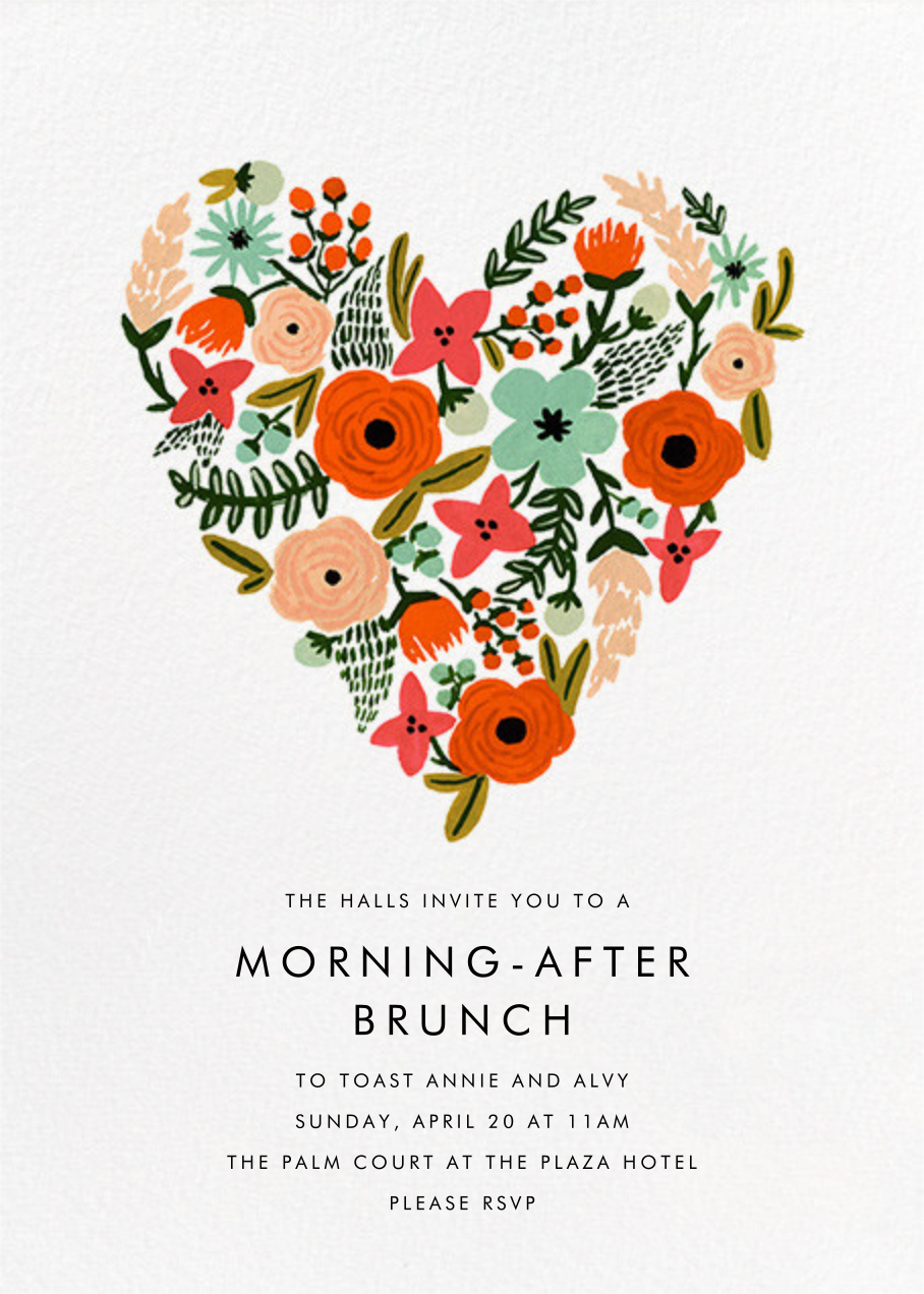 Heart of Plenty - Rifle Paper Co. - Wedding brunch