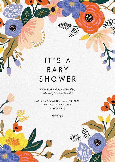 Vivid Florals - Rifle Paper Co. - Baby shower