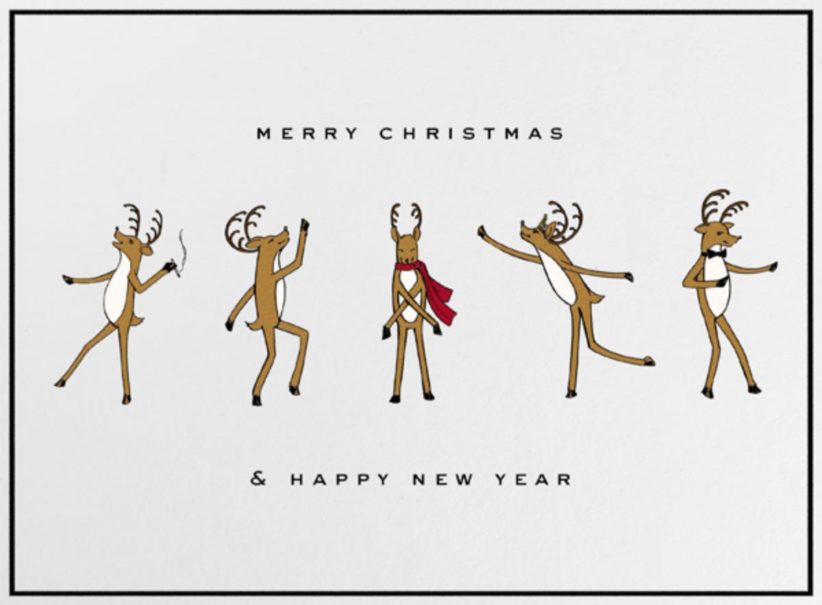 Reindeer Gala (Ivory) - Paperless Post - Christmas