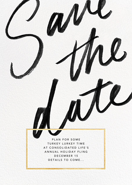 Deighton - Gold - Paperless Post - Holiday save the dates
