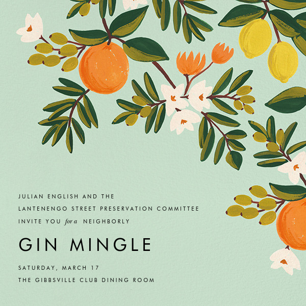 Citrus Orchard - Mint - Rifle Paper Co. - Casual entertaining