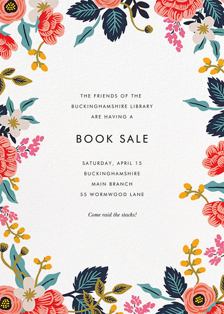 Birch Monarch Suite (Invitation) - White - Rifle Paper Co. - Charity and fundraiser