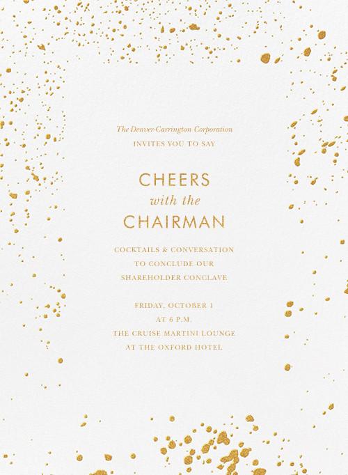 Splatter Cloth I (Invitation) - Gold - Paperless Post - Reception