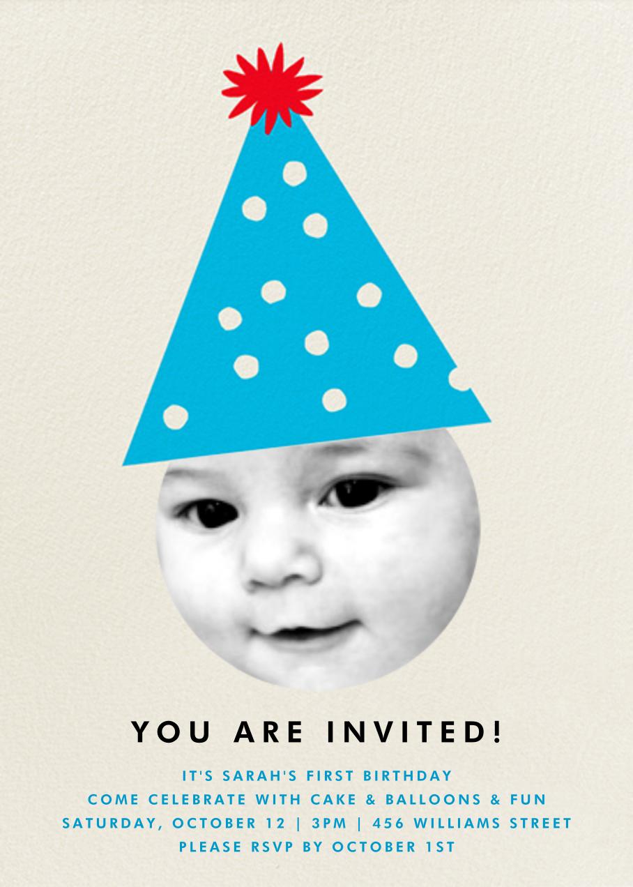 Party Hat - Blue - The Indigo Bunting - Kids' birthday