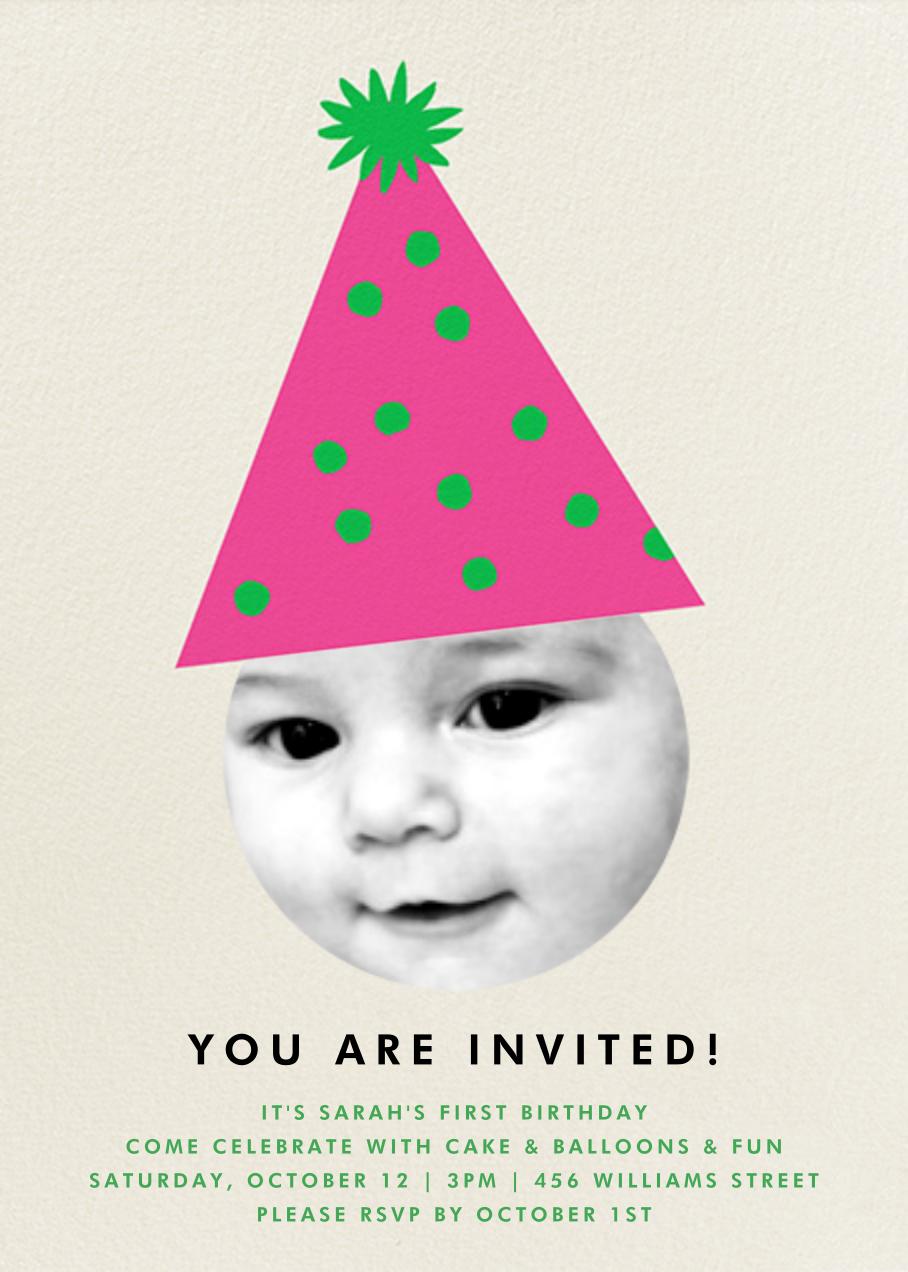 Party Hat - Pink - The Indigo Bunting - Kids' birthday