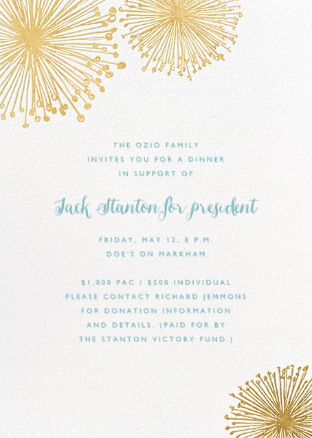 Dandelion (Invitation) - White/Gold - Paperless Post - Charity and fundraiser