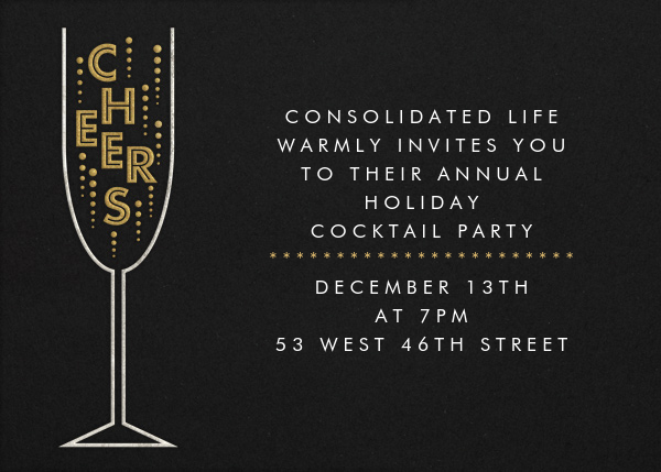 Cheers - Paperless Post - Corporate invitations