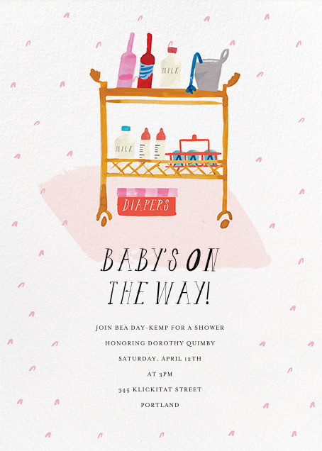 A Bar Cart for Baby Juniper - Mr. Boddington's Studio - Baby shower