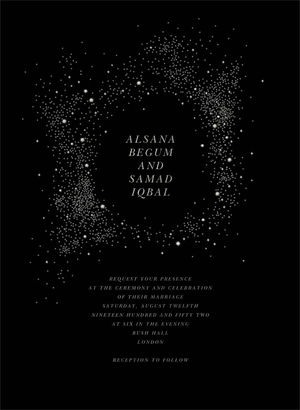 Pleiades (Invitation) - Black - Paperless Post - All