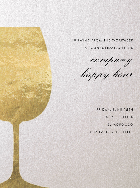 Wineglass Foil (Ivory) - Paperless Post - Happy hour