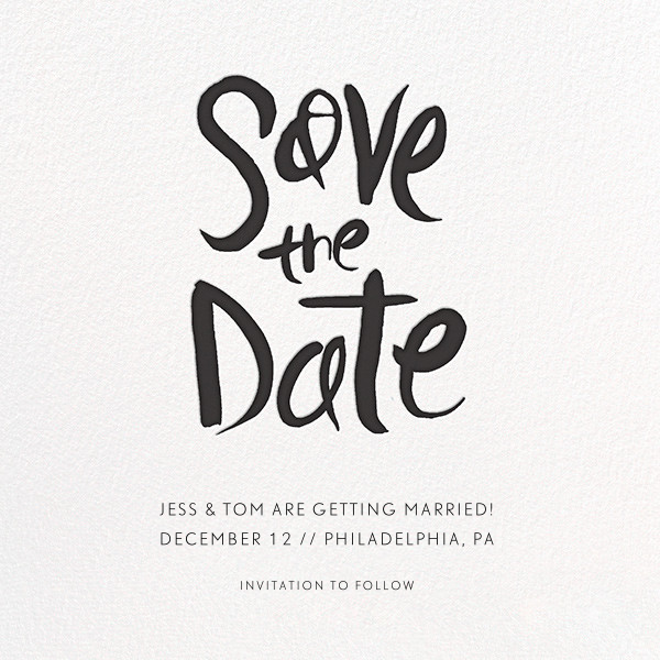 Ink Save The Date - Linda and Harriett - Party save the dates