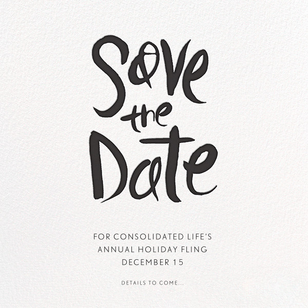 Ink Save The Date - Black - Linda and Harriett - Birthday save the dates