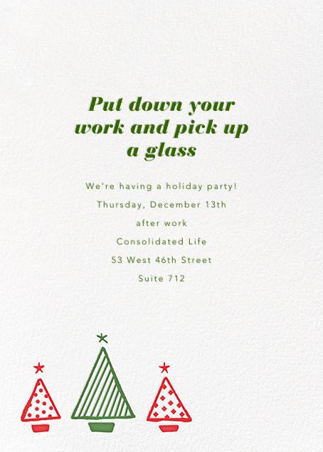 Graphic Christmas Tree - Paperless Post - Corporate invitations