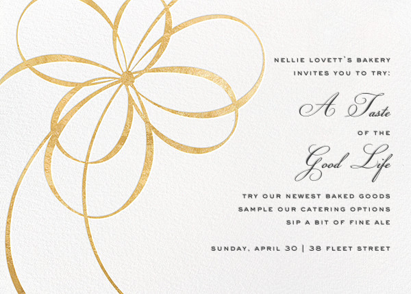 Belle Boulevard (Invitation) - Gold - kate spade new york - Reception