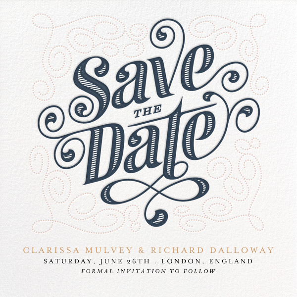 Mercer (Save the Date) - Dusk - Paperless Post - Save the date