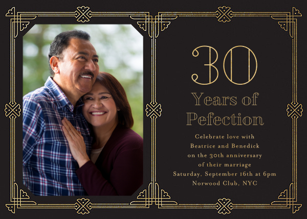 Gilt Border Birthday - Paperless Post - Anniversary party