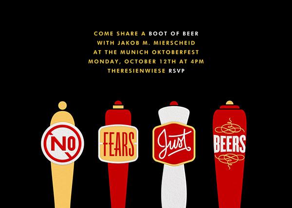 No Fears Just Beers - Paperless Post - Oktoberfest