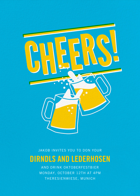 Cheers Beers (Invitation) - Hello!Lucky - Oktoberfest