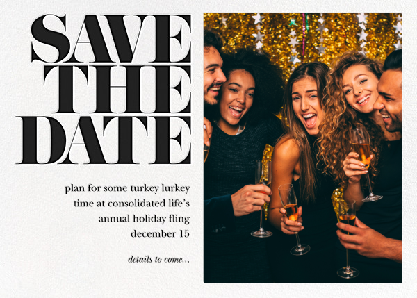 Vintage Book Save the Date (Photo) - Black - kate spade new york - Event save the dates