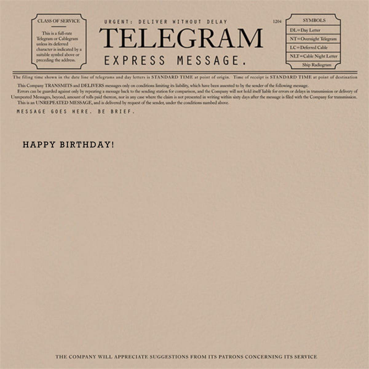 Telegram - Happy Birthday - Paperless Post - Birthday