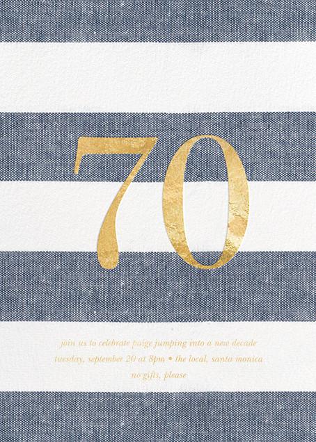 Chambray Stripe - Seventy - Sugar Paper - Adult birthday