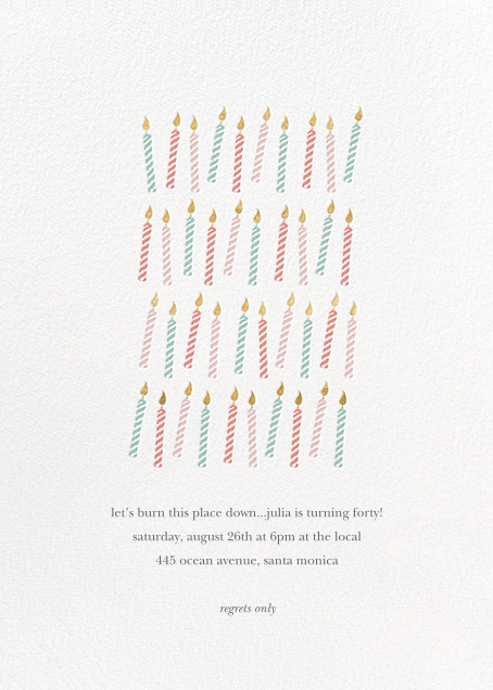 Many Candles - Multi - Sugar Paper - Adult birthday