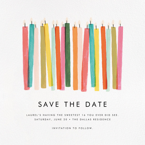 Candle Stand - Rifle Paper Co. - Birthday save the dates