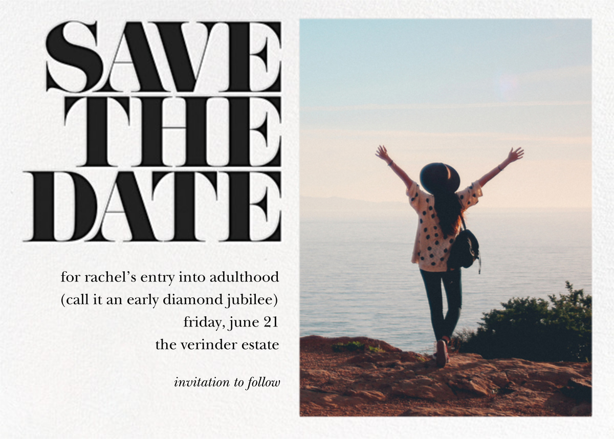 Vintage Book Save the Date (Photo) - Black - kate spade new york - Party save the dates