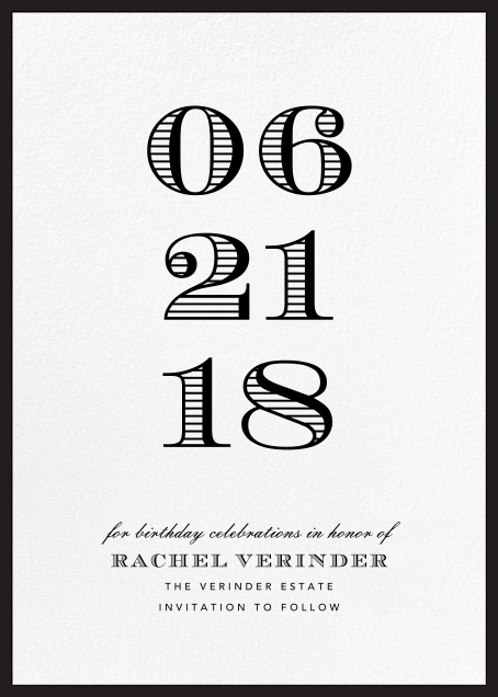 Contorno - Black - Paperless Post - Birthday save the dates