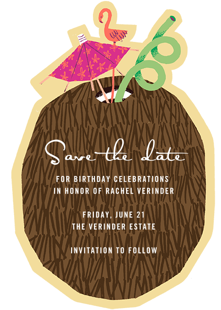 Lime in My Coconut - Paperless Post - Birthday save the dates