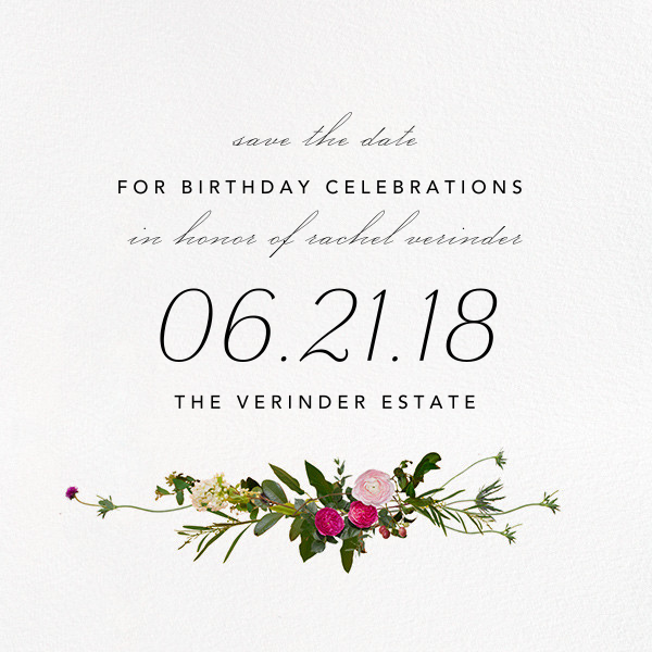 Belvoir (Save the Date) - White - Paperless Post - Birthday save the dates