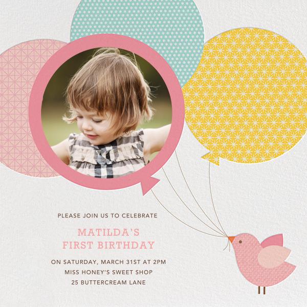 Bird Balloon - Pink  - Petit Collage - First birthday