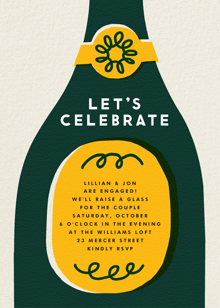 Champ Bottle - Let's Celebrate - The Indigo Bunting - Engagement party