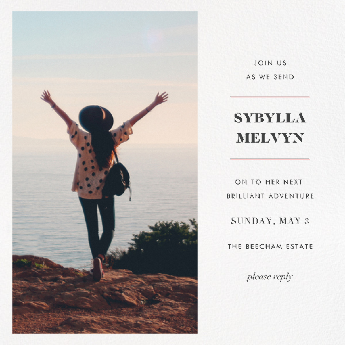Split Square (Invitation) - Paperless Post - Farewell party