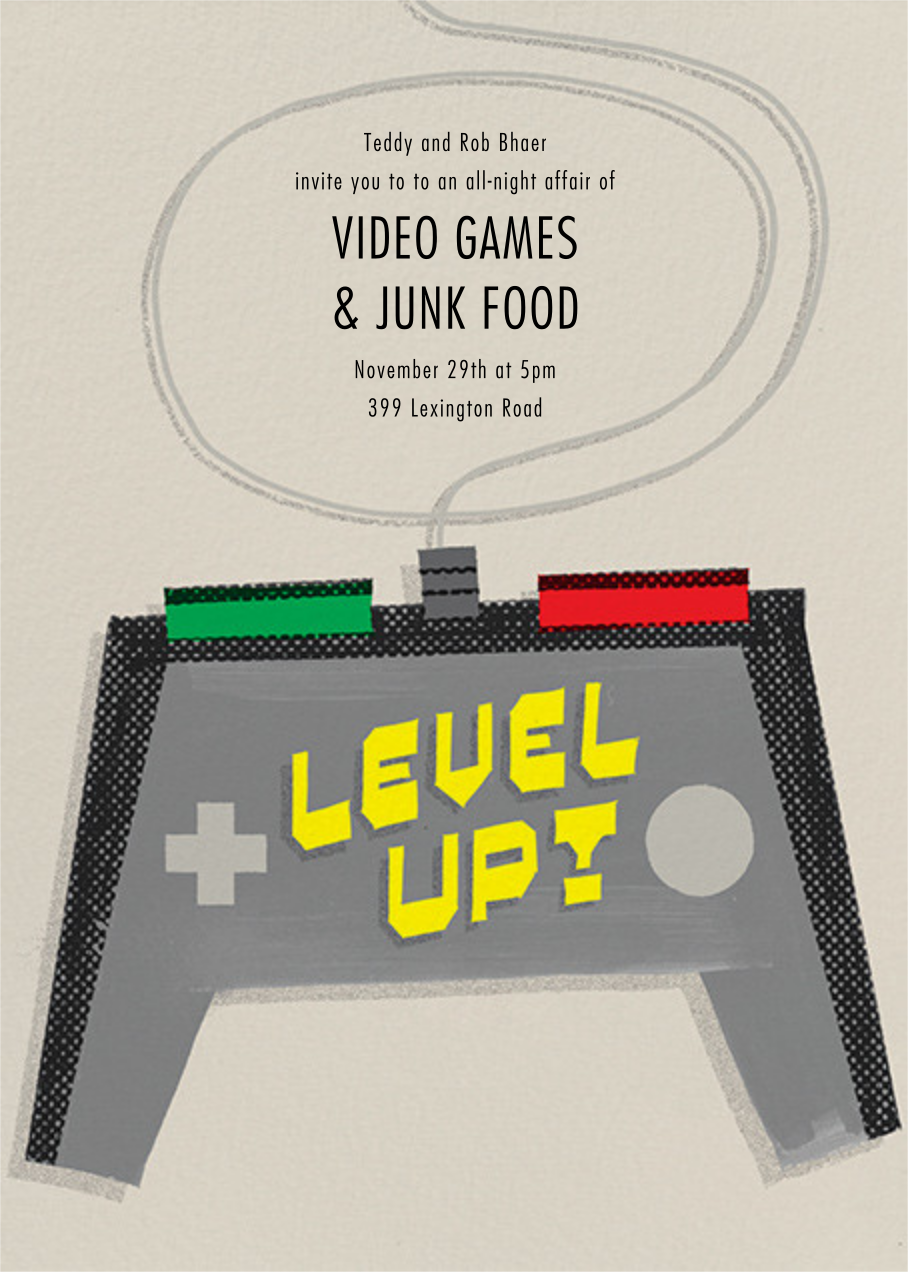 Level Up - Paperless Post