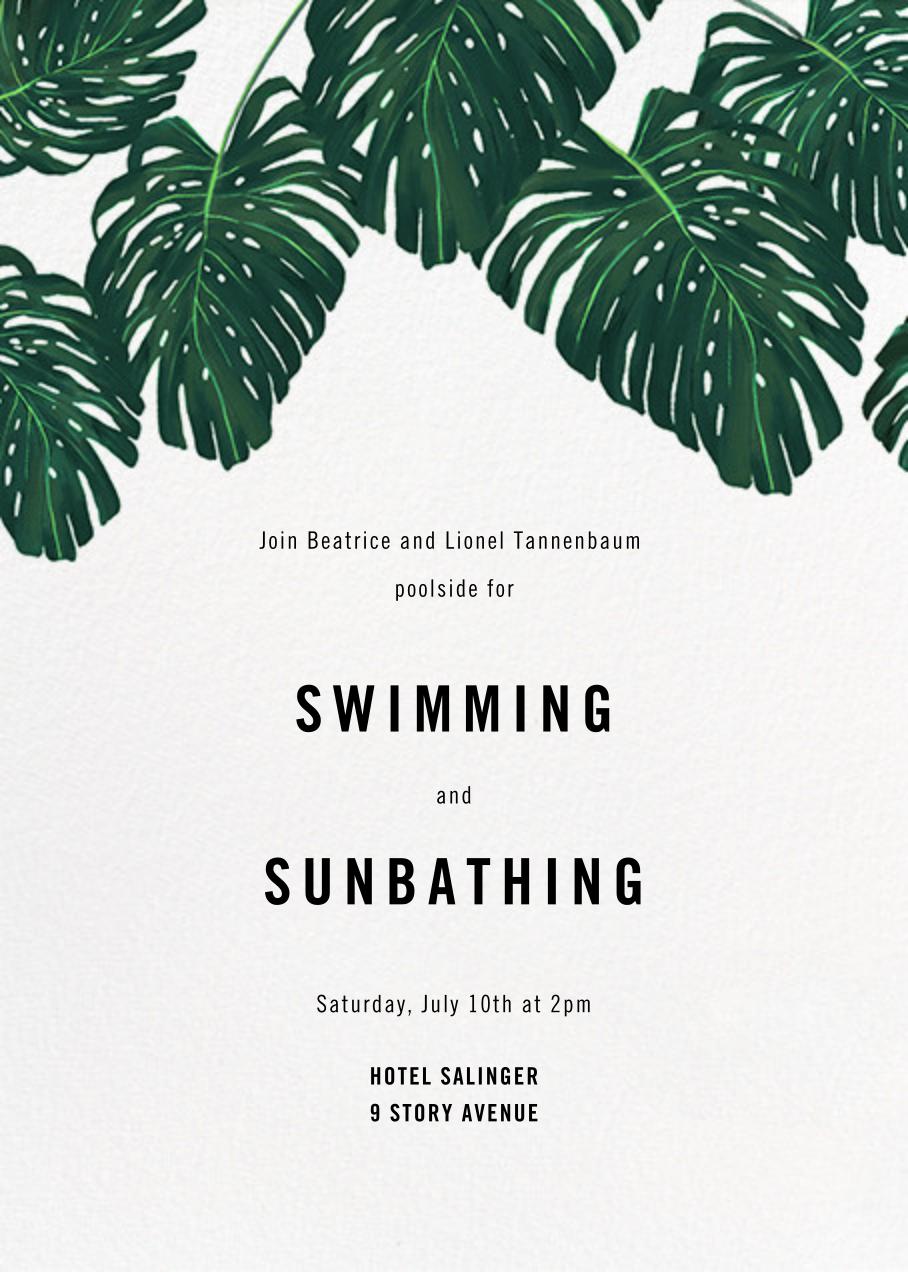Monstera (Invitation) - Paperless Post - Summer entertaining