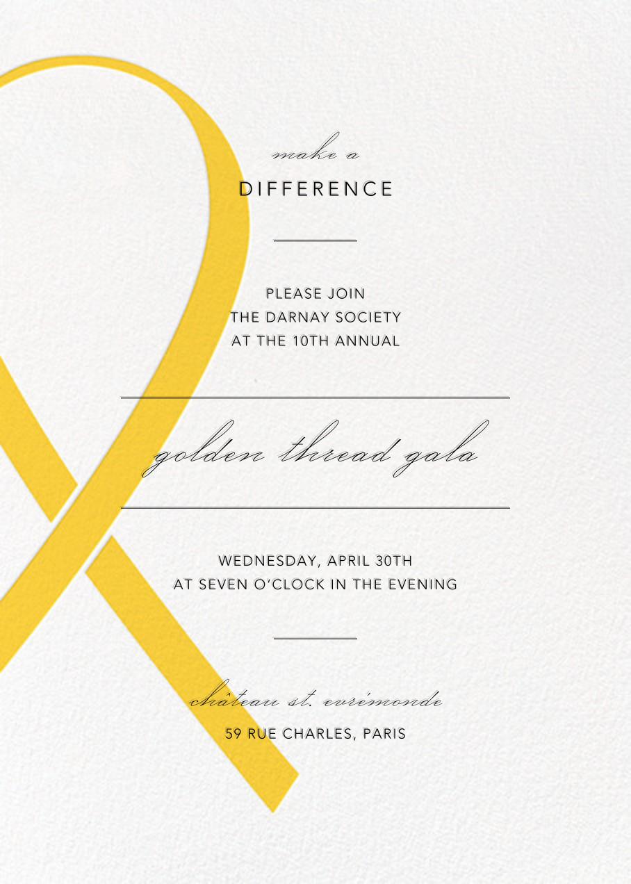 Charity Ribbon - Yellow - Paperless Post