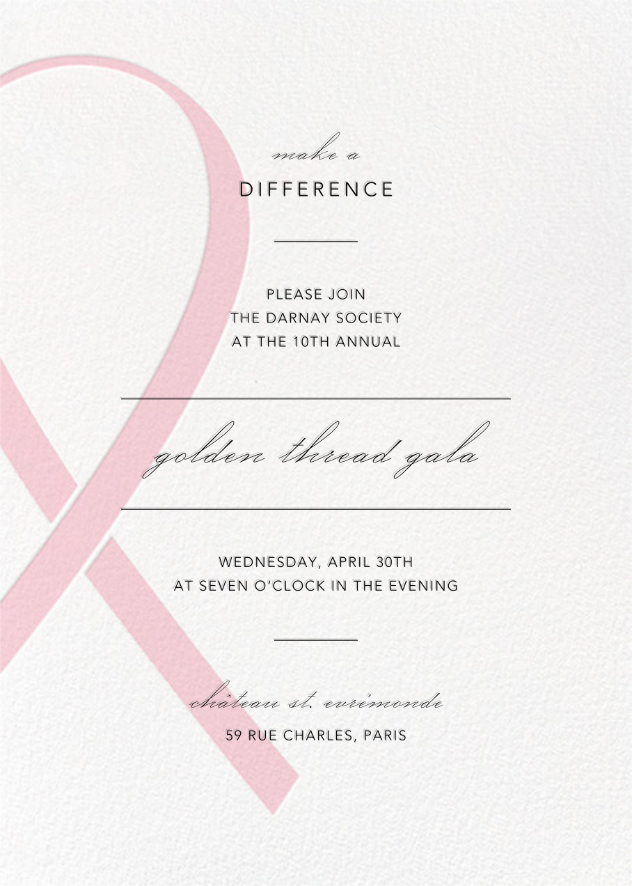 Charity Ribbon - Pink  - Paperless Post