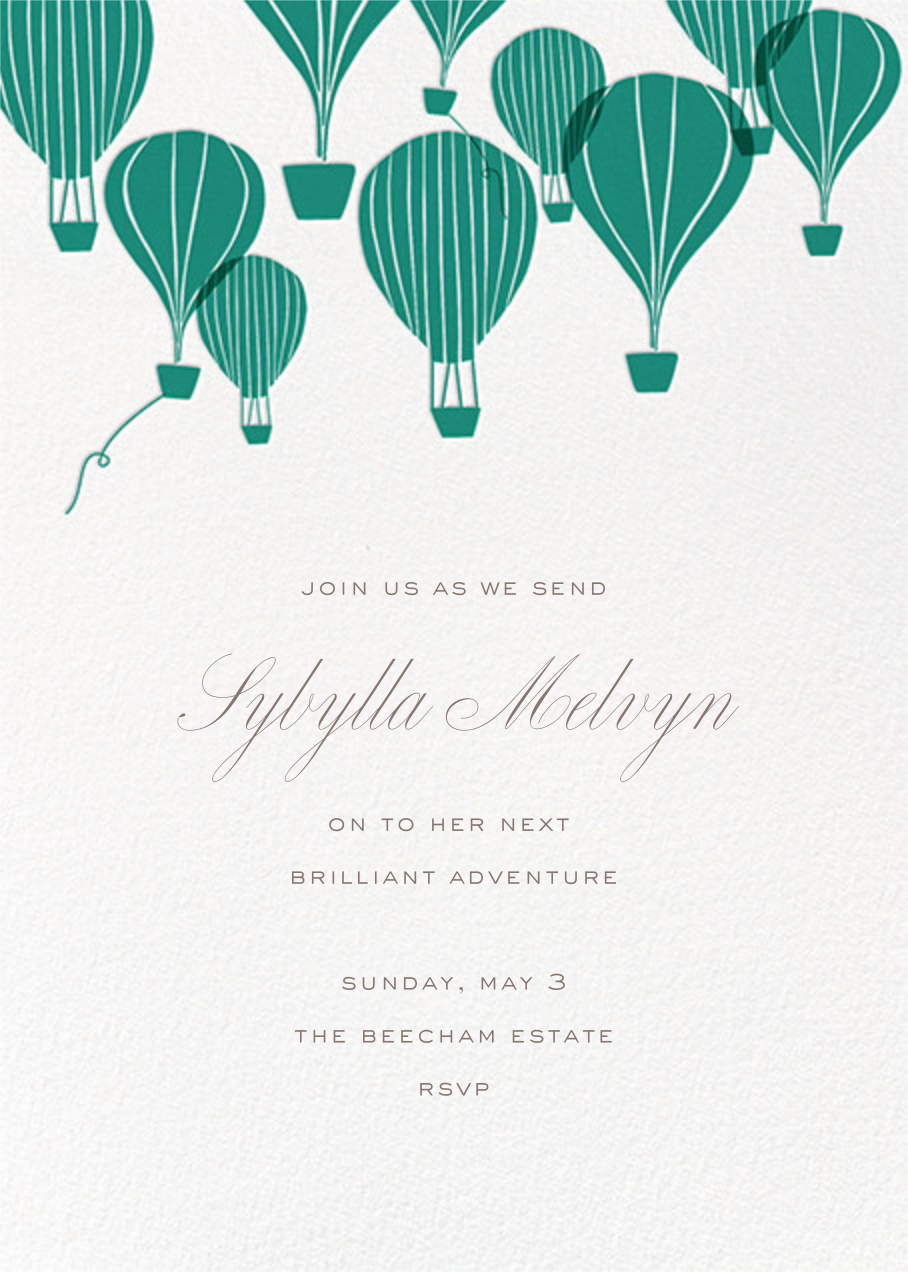 Hot Air Balloon Cluster- White/Amazon - Paperless Post