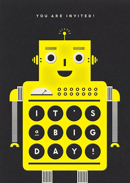 Robot - Yellow - The Indigo Bunting - Kids' birthday
